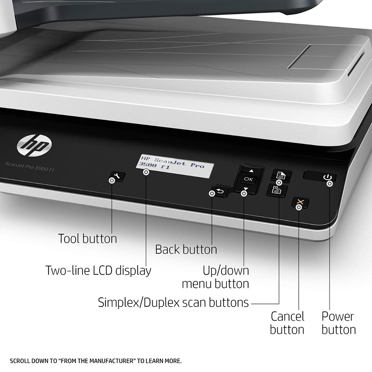 HP ScanJet Pro 3500 f1 Flatbed Scanner - Printers India