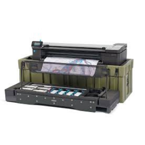HP DesignJet T830 MFP with armor case